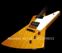 Guitar Musical Instruments wood color explorer yellow electric guitar