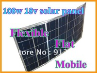 108w solar panel,flexible,flat,mobile,18v DC Charge for 12v DC system,battery charger,High Efficiency,water-proof,100% Brand New