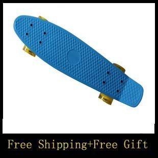 "free shipping 22"" Complete Plastic Cruiser Skateboard Fish Shape Style pennys-XC long skateboard(China (Mainland))"