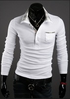 Free shipping,2012 new Mens T Shirt +Men's long Sleeve T Shirt slim fit ,Polo shirt ,cotton,2colors ,3sizes,drop shipping MLT22