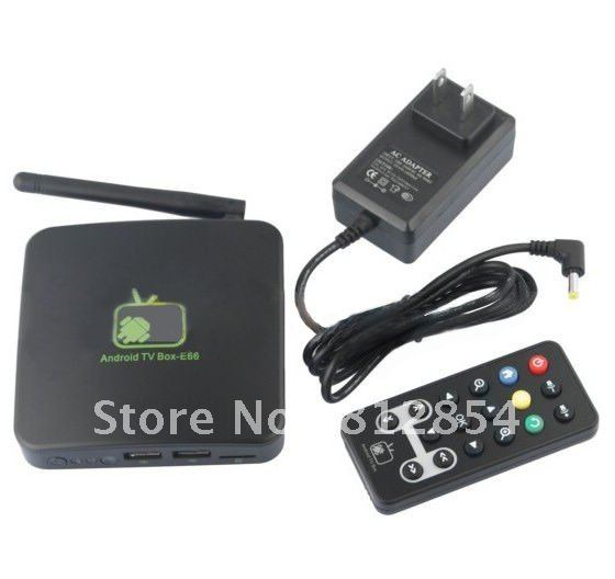E66 Android 2.3 Internet Wifi Web Full 1080P HD TV HDTV Box(China (Mainland))