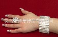 New arrival Fashion Free shopping bridal bracelet crystal bracelet and ring wedding jewelry hot wholesale