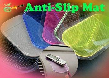 Free shipping 30pcs/lot Wholesale Magic Non slip sticky pad anti slip mat Car Anti slip Pad 14cm*8.5cm Washable Durable Use