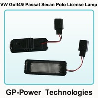 2012 Newest  VW Golf Passat Sedan car LED license plate lamp