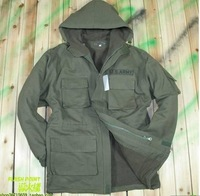 Free shipping 2012 fall winter men outdoor senior 101 airborne division green grasp the cloth with soft nap dust coat