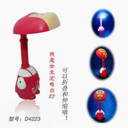 I am a girl charging desk lamp Small mushroom head table lamp Mushroom head LED lamps Wholesale USB lights el wire inverter(China (Mainland))