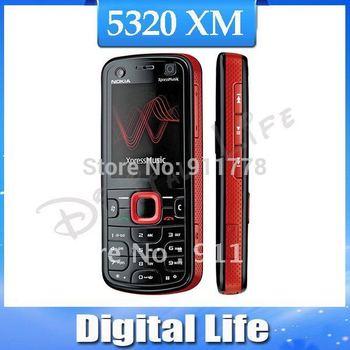 3pcs/Lot Nokia 5320 XpressMusic 3G Original 2MP Camera mobile phone wholesale Nokia 5320