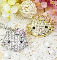Free shipping real capacity  4gb 8gb 16gb 32gb crystal  hello kitty  flash Drive memory Stick usb pen thumb drive