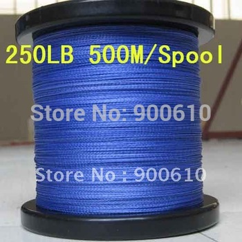 Super Strong 100% UHMWPE 8-Braid Fishing Line 250LB 0.92MM 500M/Reel Free Shipping