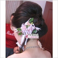 Ювелирное украшение для волос 2Pcs/Lot! Silver Red Crystal Butterfly Comb Bridal hair pin Party flower wedding Hair accessory TH053