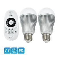 Mi.light 2.4G Led Wireless Smart Bulb with 4-Channel Smart Remote Power 7.5W, E26