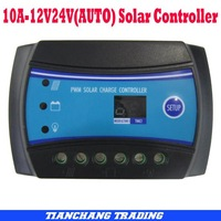 Free shipping10A 12V 24V auto switch Solar Charge Controller, Solar Regulator for solar light system