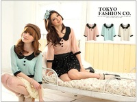 Korean summer hit color doll Lapel doll Chiffon Shirt Chiffon Tops princess shirts blouse women
