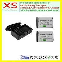 2x Battery+Charger for CASIO NP-110 NP110 EX-Z3000 EX-Z2000 EX-Z2200 EX-Z2300 EX-ZR10 EX-ZR15 ZR20 FC200S