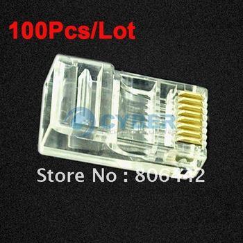 100Pcs/Lot RJ45 RJ-45 CAT5 Modular Plug Network Connector 096