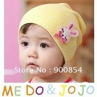 2012 New !!! MZ#016 MEDOJOJO bowknot  children caps /cotton children hat baby hat 10pcs=1lot  MIX COLORS