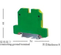 Grounding Terminal Block EK-6/35,(earth terminal block)