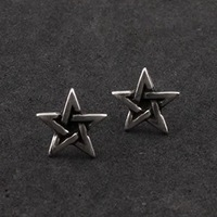 english pewter five star stud earring