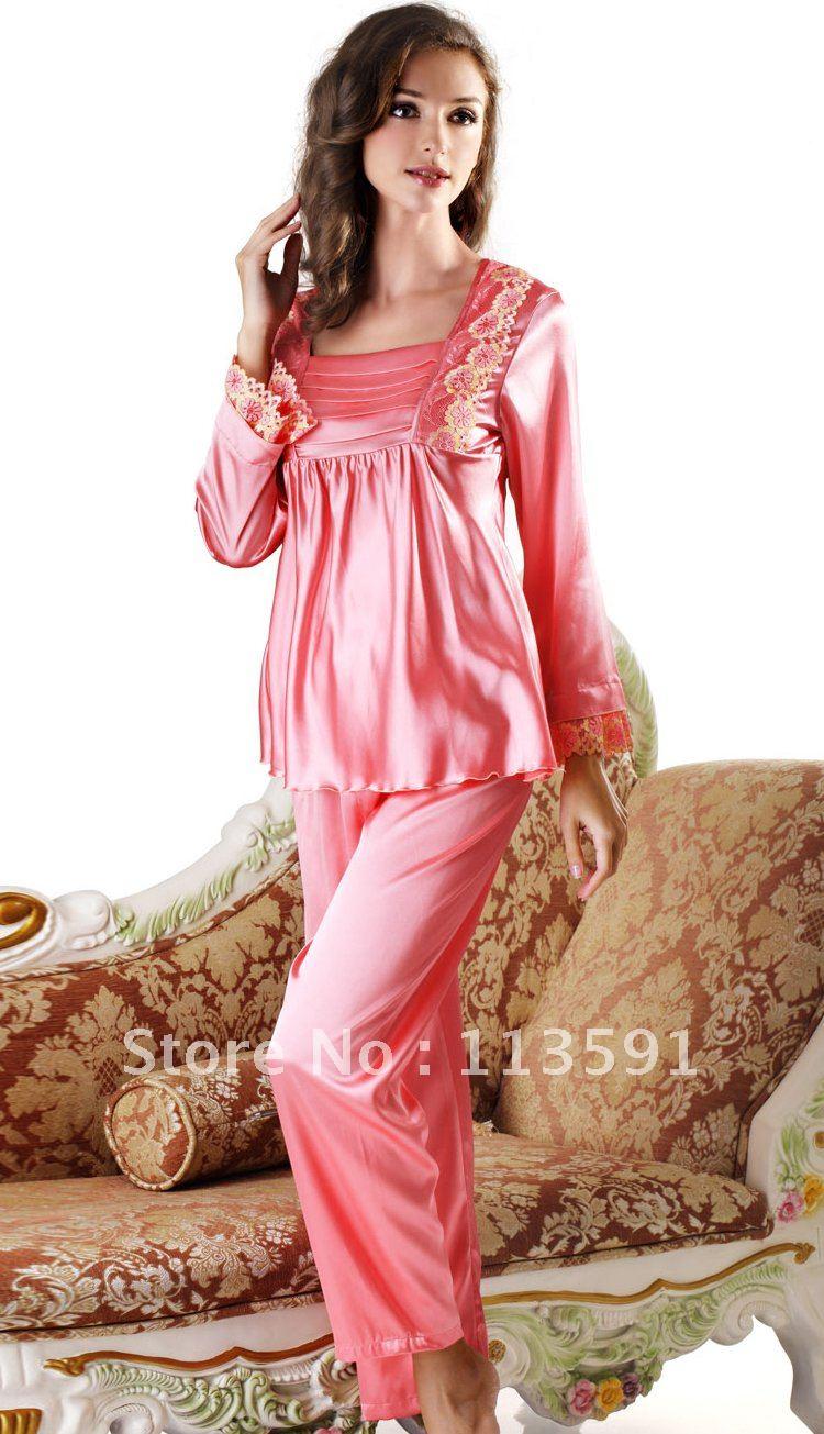 بيجامات ساتان NWT-silk-cute-fashio