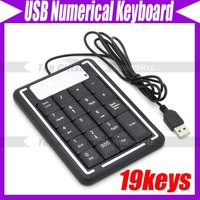 19 Keys Mini USB Number Keyboard Keypad for Laptap #3329