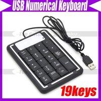 19 Keys Mini USB Number Keyboard Keypad for Laptap #3329