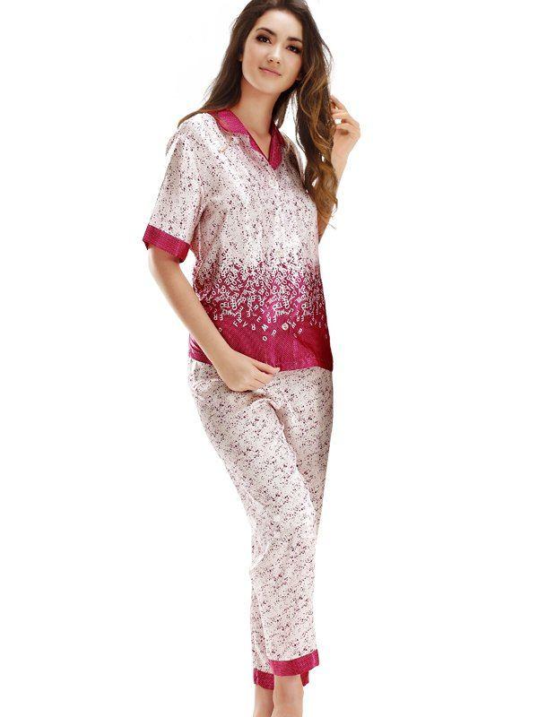 بيجامات ساتان NWT-silk-cute-women-