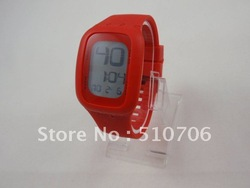 DHL/EMS Free Shipping+Touch led watch digital touch watch soft colorful jelly silicone band watch 10 color Available ,50pcs/lot(China (Mainland))