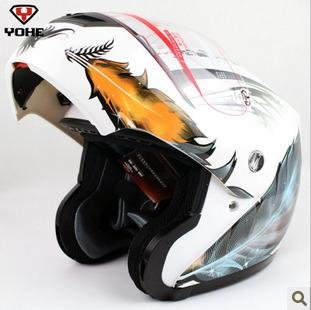 Free shipping Nice Leather Design  racing helmet  flip up helmet motorcycle full face helmet  YH-936 motocross helmet