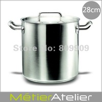 28cm/17.2L stock pot 18/10 stainless steel giftbox packing brand new K0048