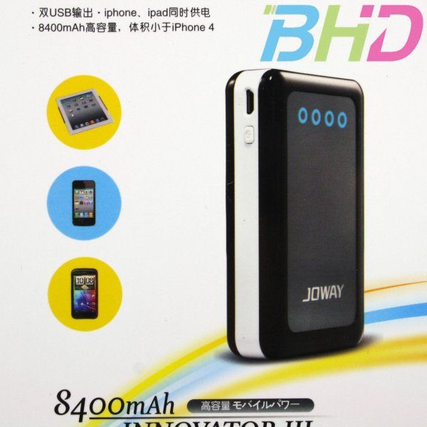 New 8400mAh External Battery Backup Power Bank Charger W/ 5 Connectors ...