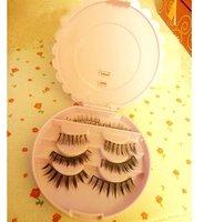 HOT SALE!Flower false eyelash box easy carry 3PCS/LOT False eyelash case/ eyelash collection box with high quality free shipping