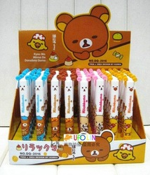 Free Shipping/ New kawaii Rilakkuma double color ball pen / Korean Style(China (Mainland))