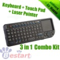 Android TV Box Partner, 2.4GHz Mini Wireless Keyboard, Touch Pad + Keyboard for PC for Android Google TV BOX, Wholesale Price