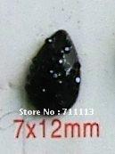 7*12MM black Resin stones Rhinestones popular diamond 2hole stones water-drop resin accessories 500pcs/lot Free shipping