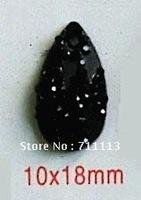 10*18MM black Resin stones Rhinestones popular diamond 2hole stones water-drop resin accessories 500pcs/lot Free shipping