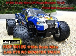 HSP 94188 1/10th Scale Nitro Off Road Monster Truck 2.4GHZ RTR RC Car Pivot Ball Suspension(China (Mainland))