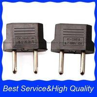 Free shipping Wholesale 30pcs Universal EU Plug Adapter travel adapter US TO EURO EU Travel Charger Plug Adapter