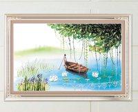 Clear Natural Charming Serenity Lake Silk Ribbon Embroidery Fashion Diy Embroidery+Free Shipping