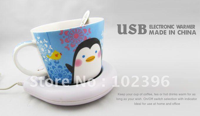 Free Shipping 1pcs/lot Mini USB coffee cup warmer usb heater usb warmer pad House Gifts(China (Mainland))