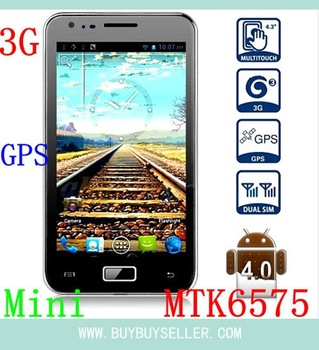 "Star N800 Mini i9220 MTK6575 Android 4.0 Smart Cell Phone 3G GPS WIFI WCDMA 1.0Ghz 4.3"" WVGA Capacitive Screen 8.0 MP Camera"