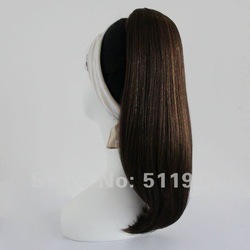 "Synthetic hair drawstring ponytail/hairpiece,19""-20"", long straight(China (Mainland))"
