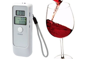 Free Shipping  Detector Dual LCD Display Digital Alcohol Tester and Timer Analyzer Breathalyzer