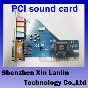 10pcs wholesale 4 Channel MIDI GAME Port 3D Audio PCI Sound Card Full duplex 64-bit PCI Bus Master with CDdriver #6940