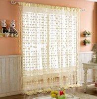 Free Shipping Heart Tassel String Door Curtain Door Hanging  Window curtain - Yellow