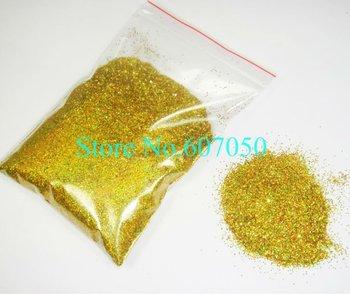 Free Shipping-50g/bag Loose Laser Gold Color Shining Nail Glitter Dust Powder for Nail Art DIY decoration