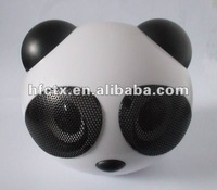Free shipping USB/SD card panda Design stereo mini speaker