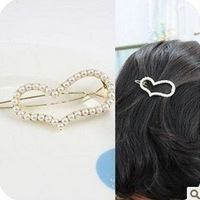 Korean Multi-rows Crystal Barrette, Spring Strip Hairpin