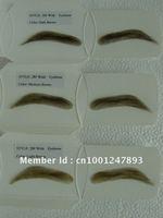 Top Quality PU Base Natural False Hand Made Human Hair Fake Eyebrow 10 pairs/lot