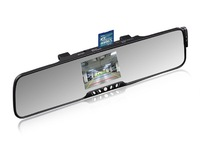 3.5 inch car rearview mirror bluetooth device with wireless reverse camera for parking