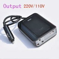 SUVPR 200W 12V to 220V AC Car Power Inverter Adapter US EU Plug USB